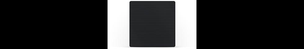 Black square showing laser texturing